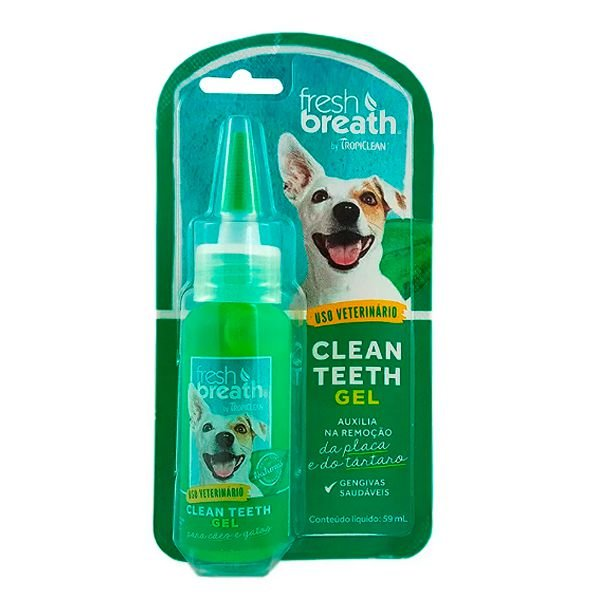 Fresh Breath Clean Teeth Gel Cães e Gatos - Tropiclean
