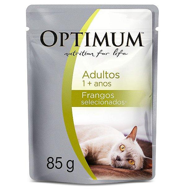 Sachê Optimum Gatos Adultos - Frangos Selecionados
