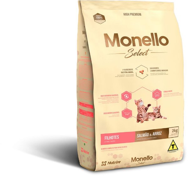 Monello Select Cat Filhotes - Salmão e Arroz