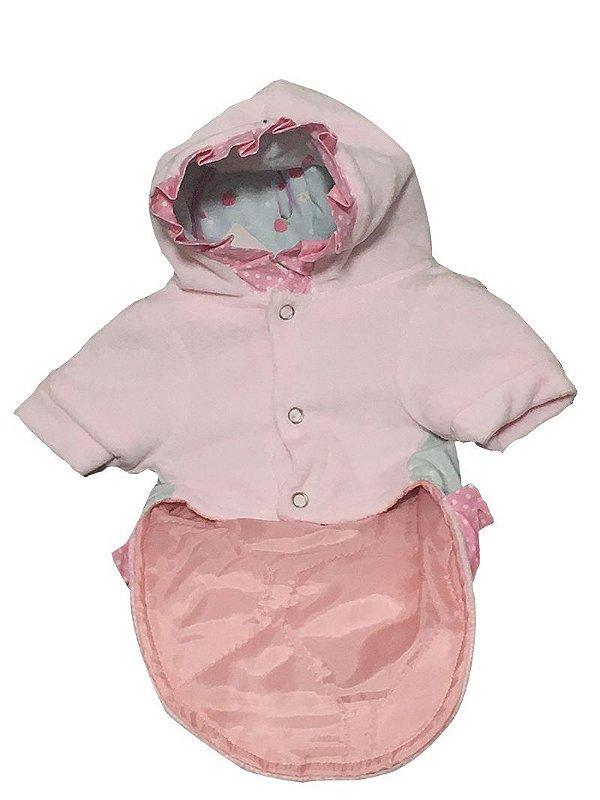 Roupa Rosa Bebê c/ Capuz 5221