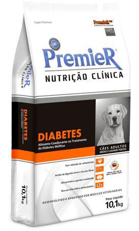 Premier Nutrição Clínica Diabetes para Cães Adultos Med/Gra - CONSULTE A VALIDADE