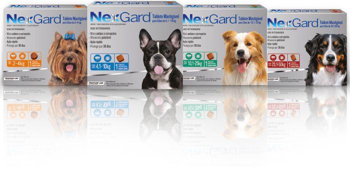 NexGard  Antipulgas e Carrapatos para Cães 01 Comprimido - Merial