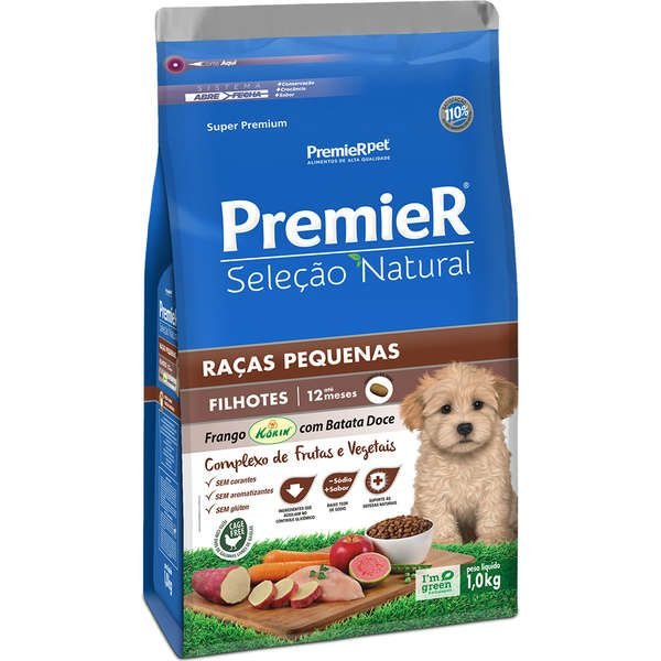 Premier Seleção Natural Frango Korin com Batata Doce Cães Filhotes Raças Pequenas - Premier Pet