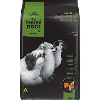 Three Dogs Super Premium para Cães Adultos Raças Pequenas e Mini - Hercosul
