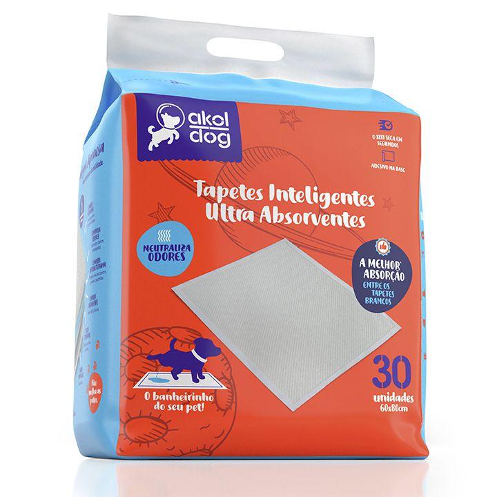 Tapete Higiênico Akol Dog Branco 60x80