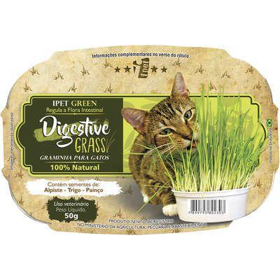 Graminha Ipet Green Digestive Grass para Gatos