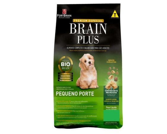 Brain Plus 10,1Kg para cães Peq. Porte Adultos - Carne e Cereais
