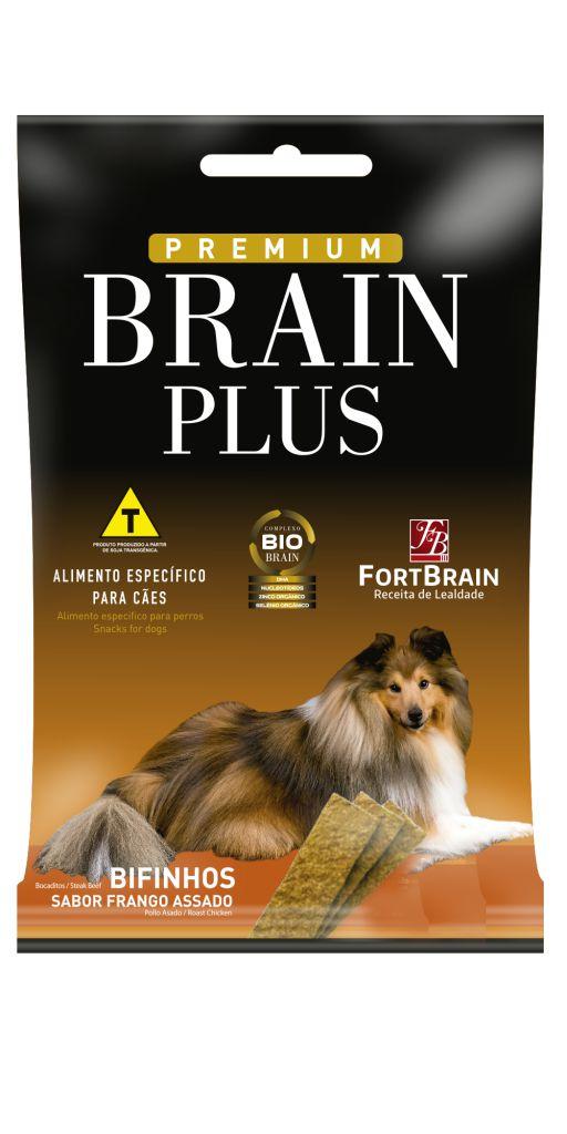 Bifinhos Assados Sabor Frango Brain Plus 500g - FortBrain