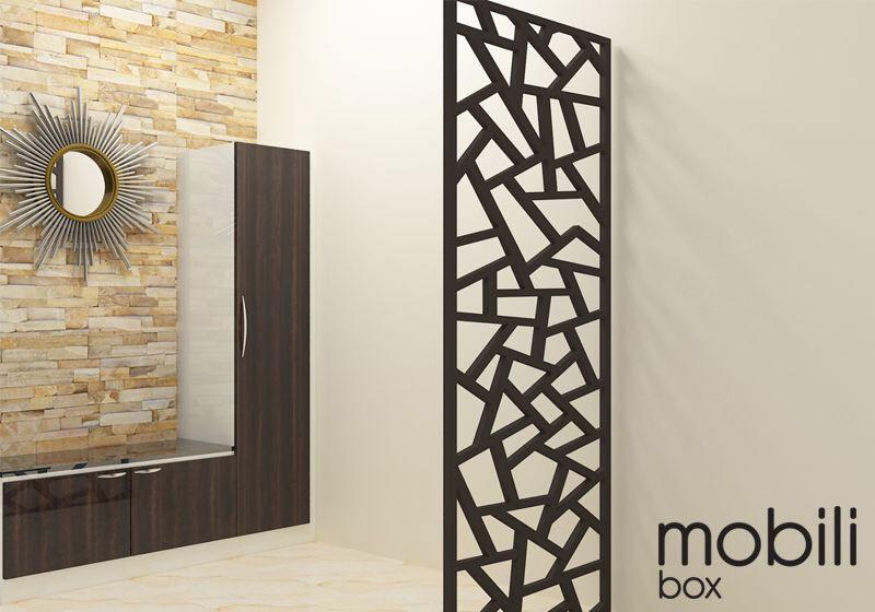 Painel Cobogó Linha Geometria VETRO - mdf cru 180 x 46 cm