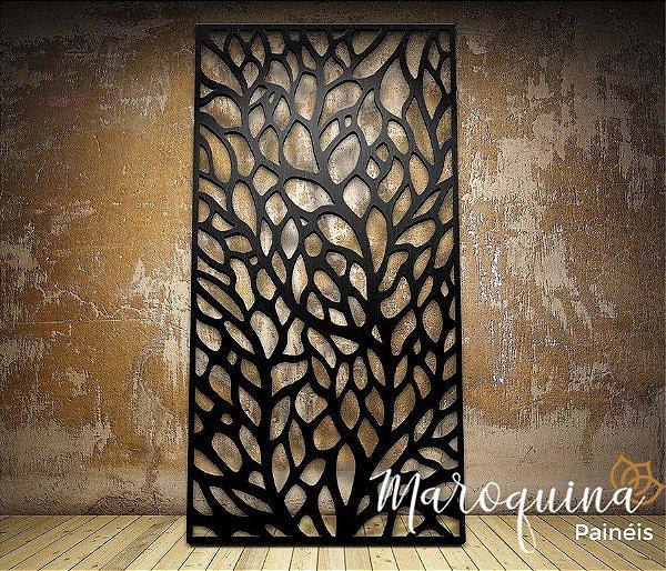Painel Cobogó Linha Botânica LEAF - mdf cru 180 x 96 cm
