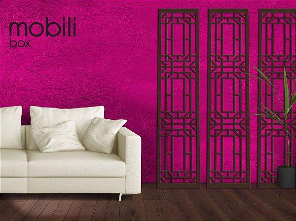 Painel Cobogó Linha Classic ANTIQUE - mdf cru 180 x 40 cm