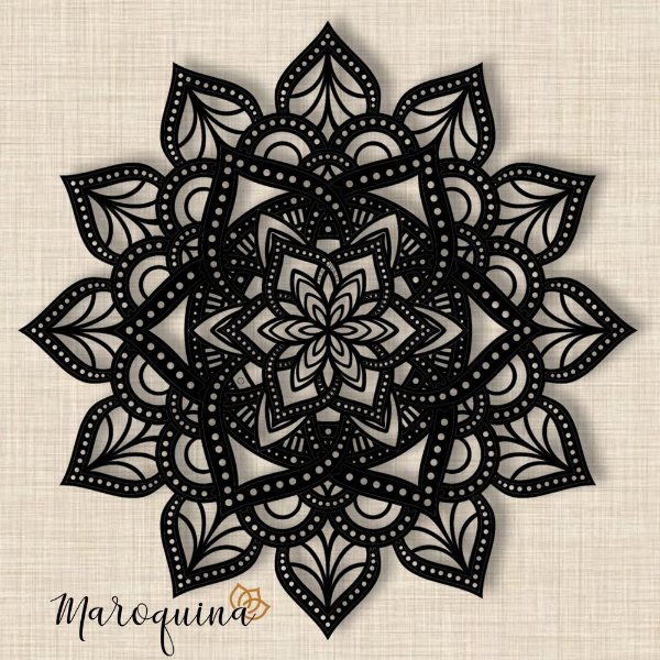 Mandala Clássica Lace Amor 90 cm em mdf cru
