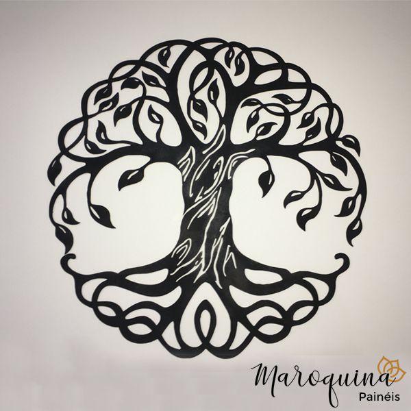 Mandala Árvore da Vida 90 cm em mdf cru