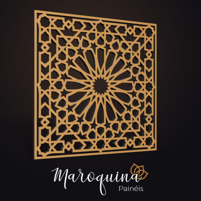 Painel Cobogó Linha Marrocos CASABLANCA 50 x 50 cm em mdf cru