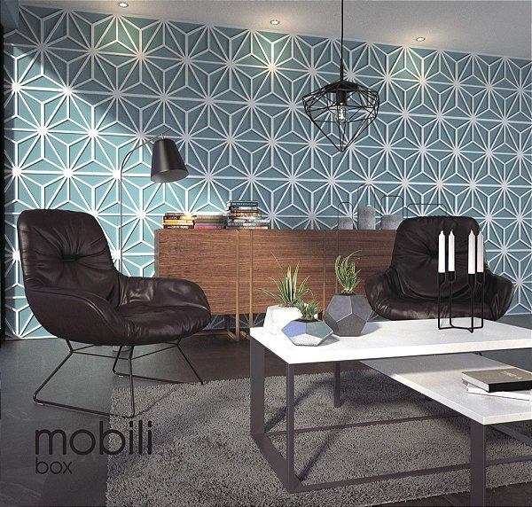 Azulejos Cobogó - Kit 22 peças painel vazado 30 x 30 cm (2 m2) mdf 3 mm