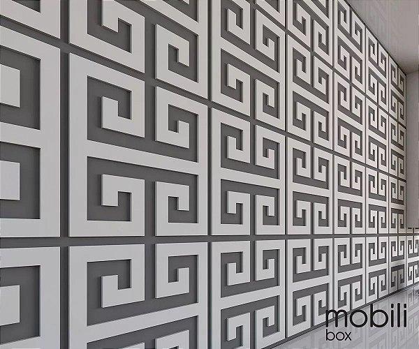 Azulejos Cobogó - Kit 52 peças painel vazado 20 x 20 cm em mdf 3 Mm