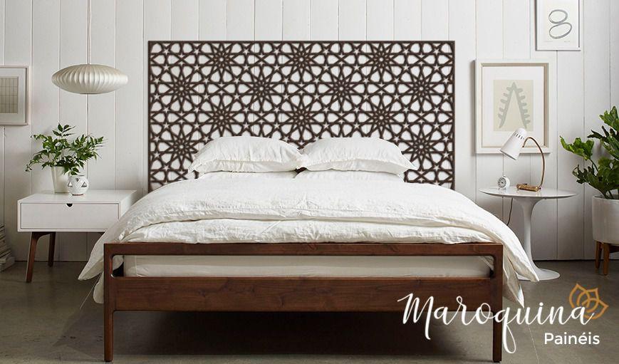 Cabeceira Cama Queen Marroquina Salé 160 x 80 cm mdf cru 3 mm