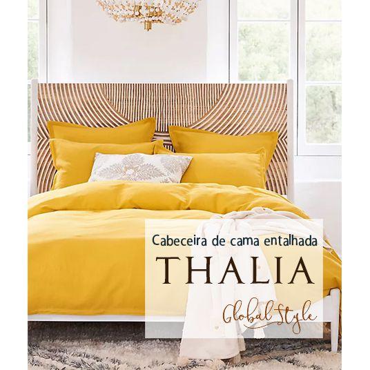 Cabeceira Cama Casal Thalia 140x60cm Em Madeira nobre 35mm