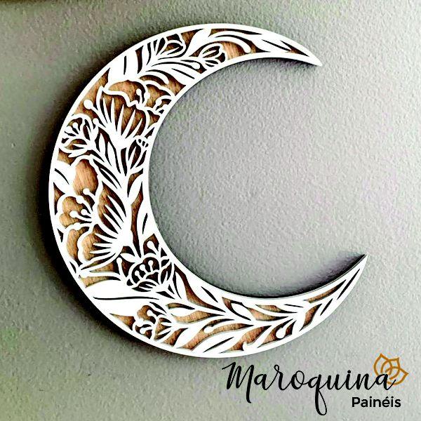 Lua Floral Crescente - Estilo Boho
