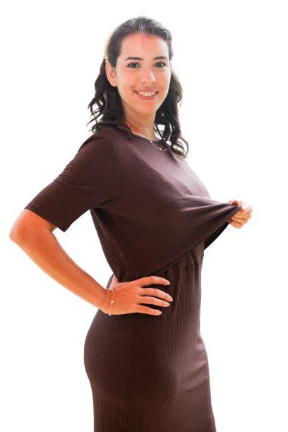 Vestido Ana Mangas - Chocolate - P, M, G e GG