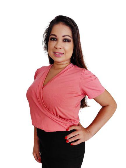 Camiseta Transpassada Rosa - M