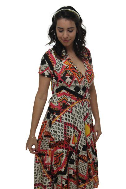 Vestido Amamentação Bia - Geométrico - P e M