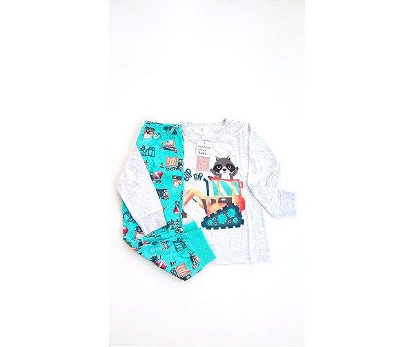 94eb7609e Pijama Infantil Masculino Malwee Tratorzinho Bip Bip - Compre Pijama