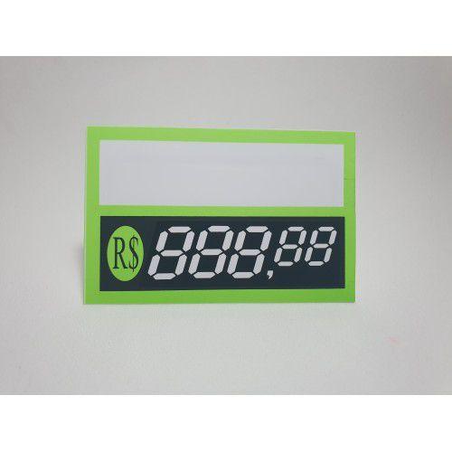 Etiqueta Dígitos Verde- 85 mm x 55 mm - Pct 40 Unid