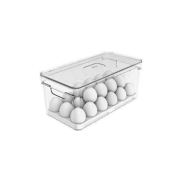 rganizador de Ovos Com Tampa Clear Fresh 36 Unidades - Natural  15 x 13 x 30 cm