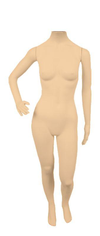 Manequim Plástico Feminino - Sem Cabeça - R.52C, K.52C, P.52C