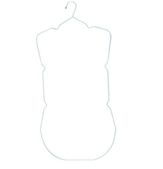 Cabide Para Maio Infantil - Cx 12 Unid - 52 x 32 cm