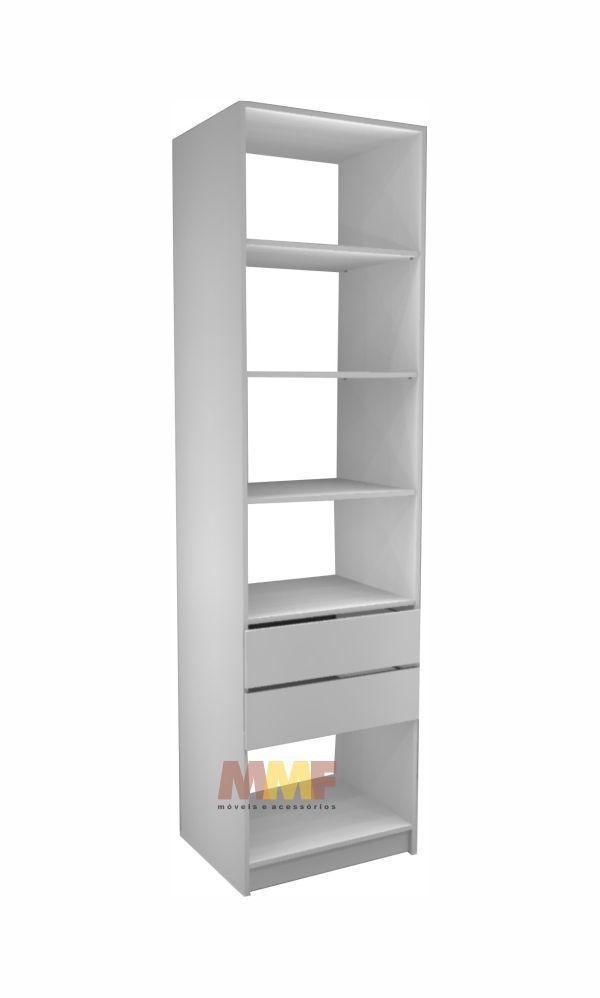 Closet Prateleira 2 Gavetas - 60 x 222 cm