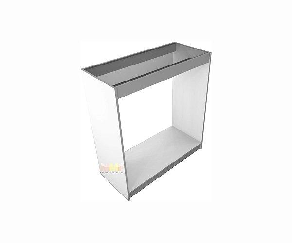 Balcão Reto Cabideiro COM Vidro - 100 x 110 x 45 cm