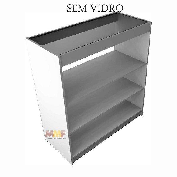 Balcão Reto Prateleira SEM Vidro - 100 x 110 x 45 cm
