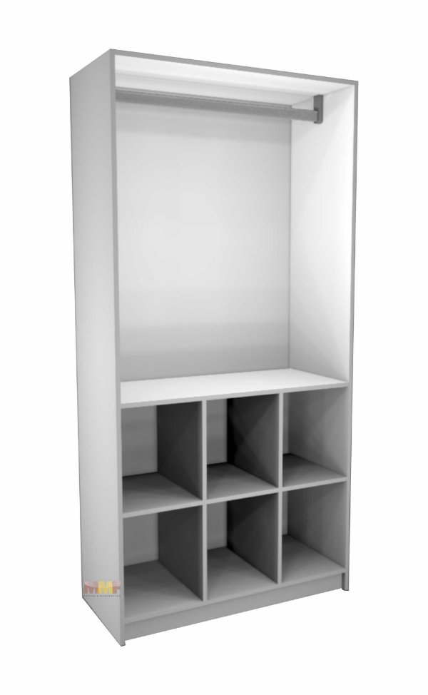 Armário Arara + Colmeia - 90 x 186 x 41 cm