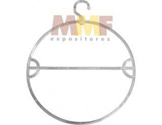 Cabide Redondo Giratório Transparente - Cx 12 Unid. - Medidas: 45 x 35 cm