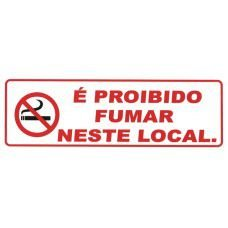 Cartaz Proibido Fumar - 300mm x 100mm