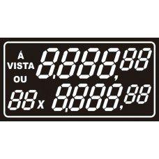 Etiqueta A vista ou 00x - 70 mm x 37 mm - Pct 50 Unid.