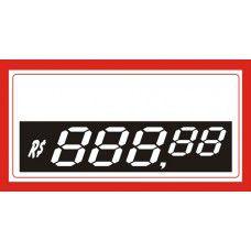 Etiqueta preço pvc reutilizável com digítos - 70 mm x 37 mm - Pct 50 Unid