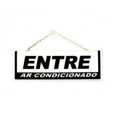 Placa Entre-Ar/Fechado - 210mm x 70mm