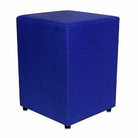 Puff Quadrado Azul Royal - 35 x 45 cm