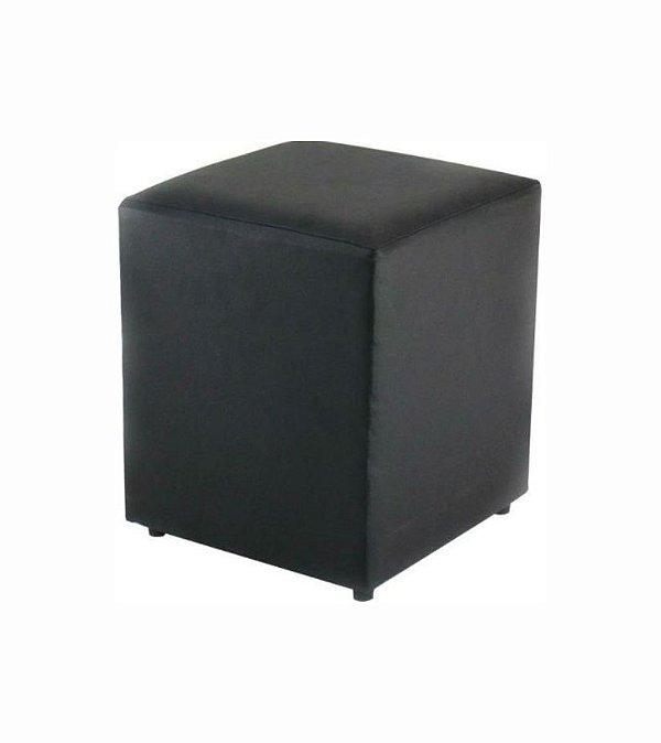Puff Quadrado Preto - 35 x 45 cm