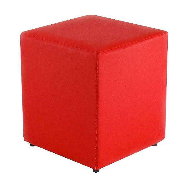 Puff Quadrado Vermelho - 35 x 45 cm