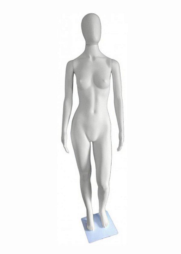 Manequim Plástico K.5245R Feminino Branco Com Cabeça