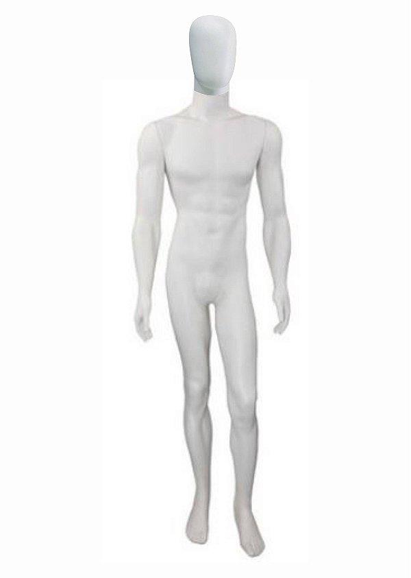 Manequim Plástico R.6146 Masculino Branco Fitness Com Cabeça