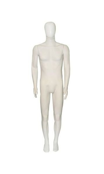 Manequim Plástico R.24 Masculino Branco Com Cabeça