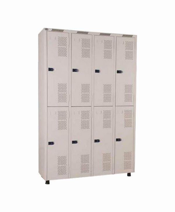 Roupeiro 8 portas - 125 x 198 x 42 cm