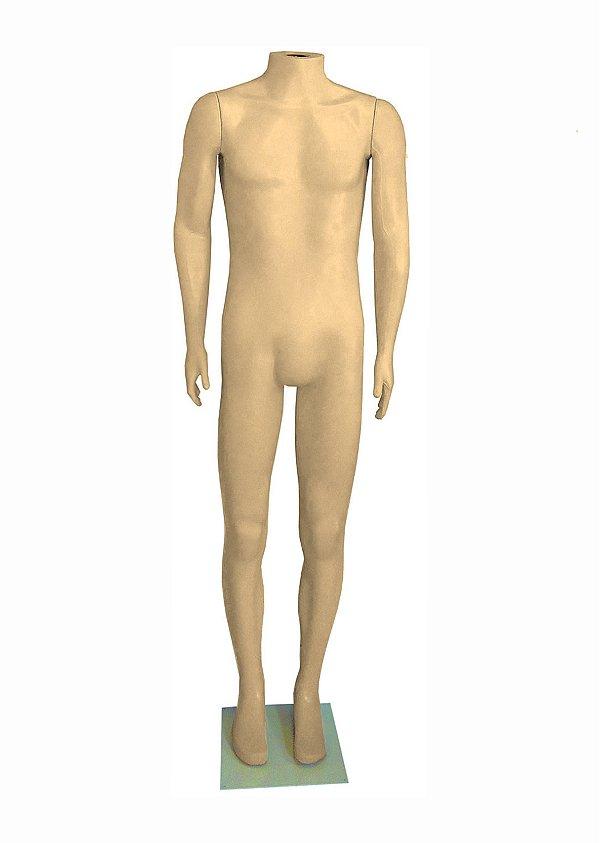 Manequim Plástico R.24 Masculino Bege Sem Cabeça