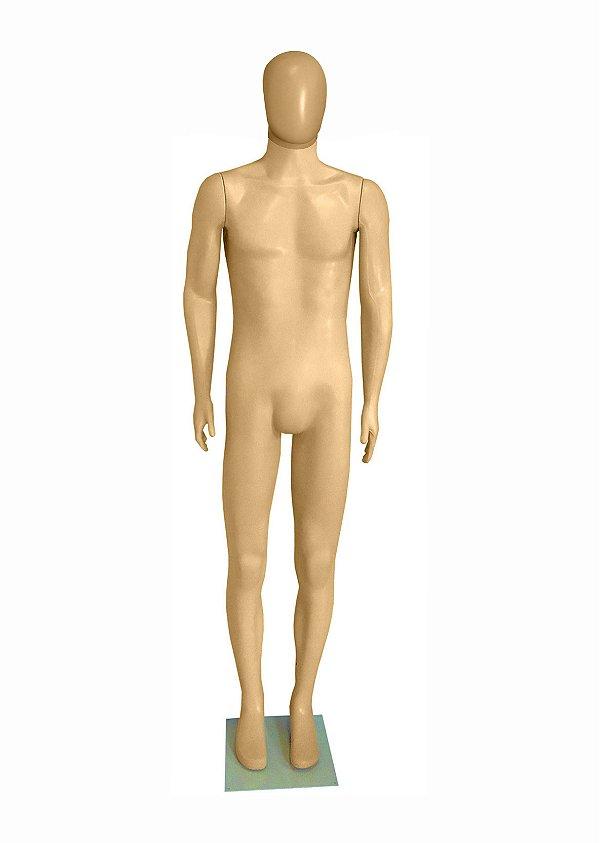 Manequim Plástico R.2446 Masculino Bege Com Cabeça