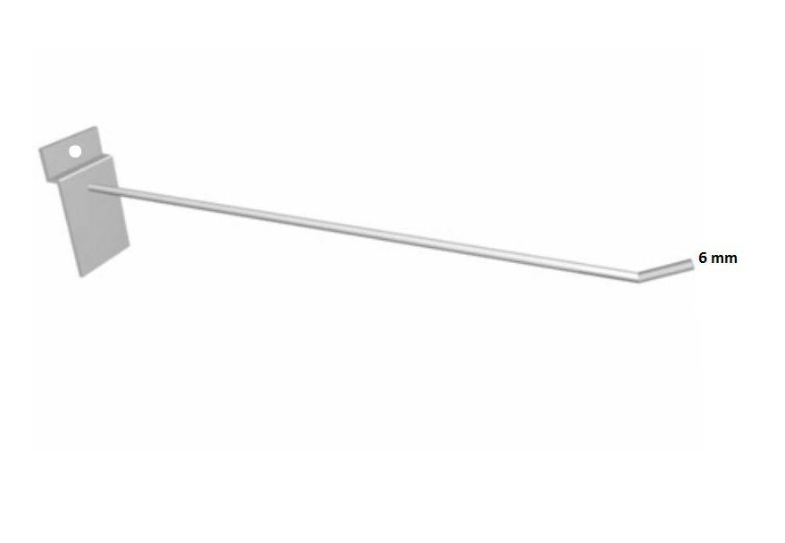 Gancho Painel Arame Branco 6 mm - 30cm - Cx 25 Unid.